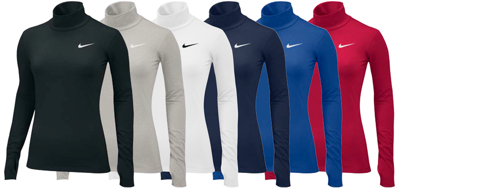 Custom Nike Women's Compression Shirts with Mock Neck