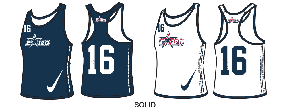 Custom Nike Women's Lacrosse Pinnies and Reversible Practice Jerseys