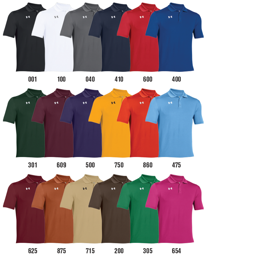 Under Armour Team Armour Custom Polo Shirts Elevation Sports
