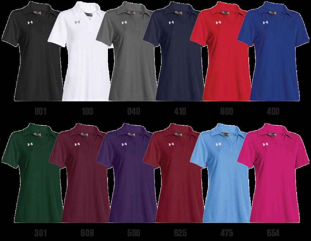 Under armour custom women 39 s polo shirts elevation sports for Custom athletic shirts under armour