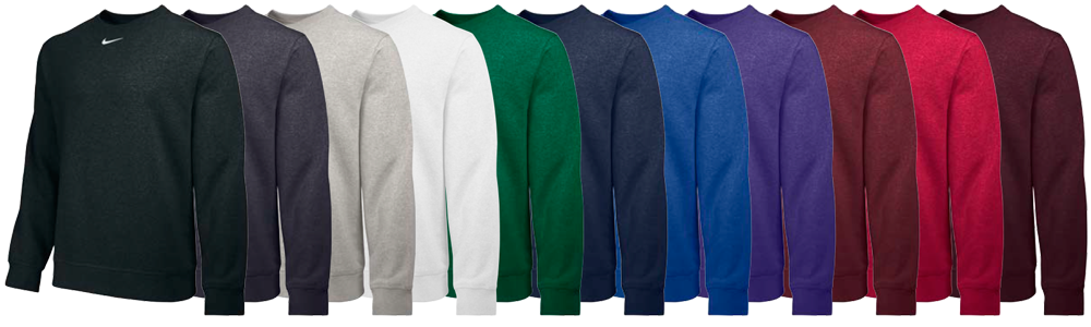 Custom Nike Team Club Crewneck Sweatshirts - Elevation Sports