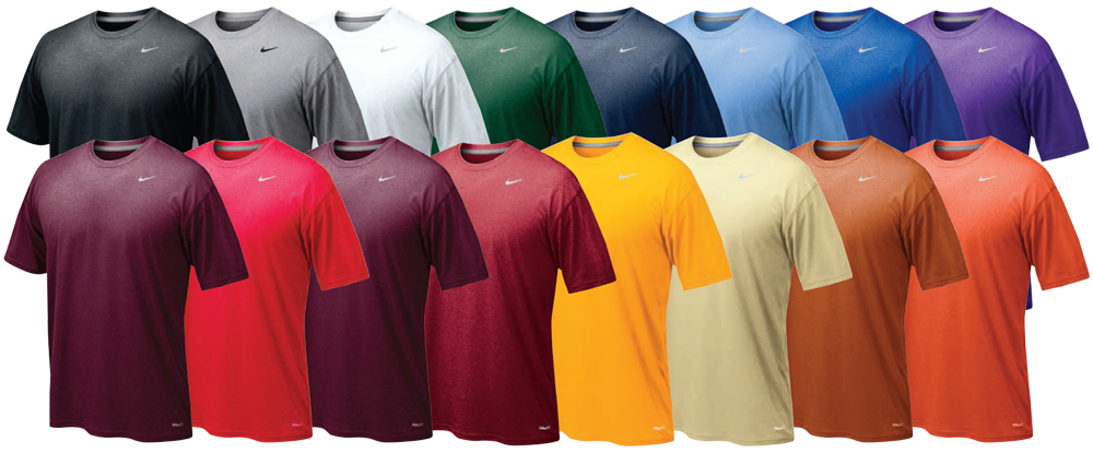 Custom nike legend dri fit wicking shirt elevation sports for Custom dri fit t shirts