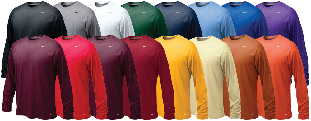 custom nike long sleeve dri fit shirt elevation sports