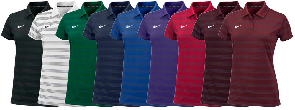 Nike pre season custom women 39 s polo shirt elevation sports for Nike custom polo shirts