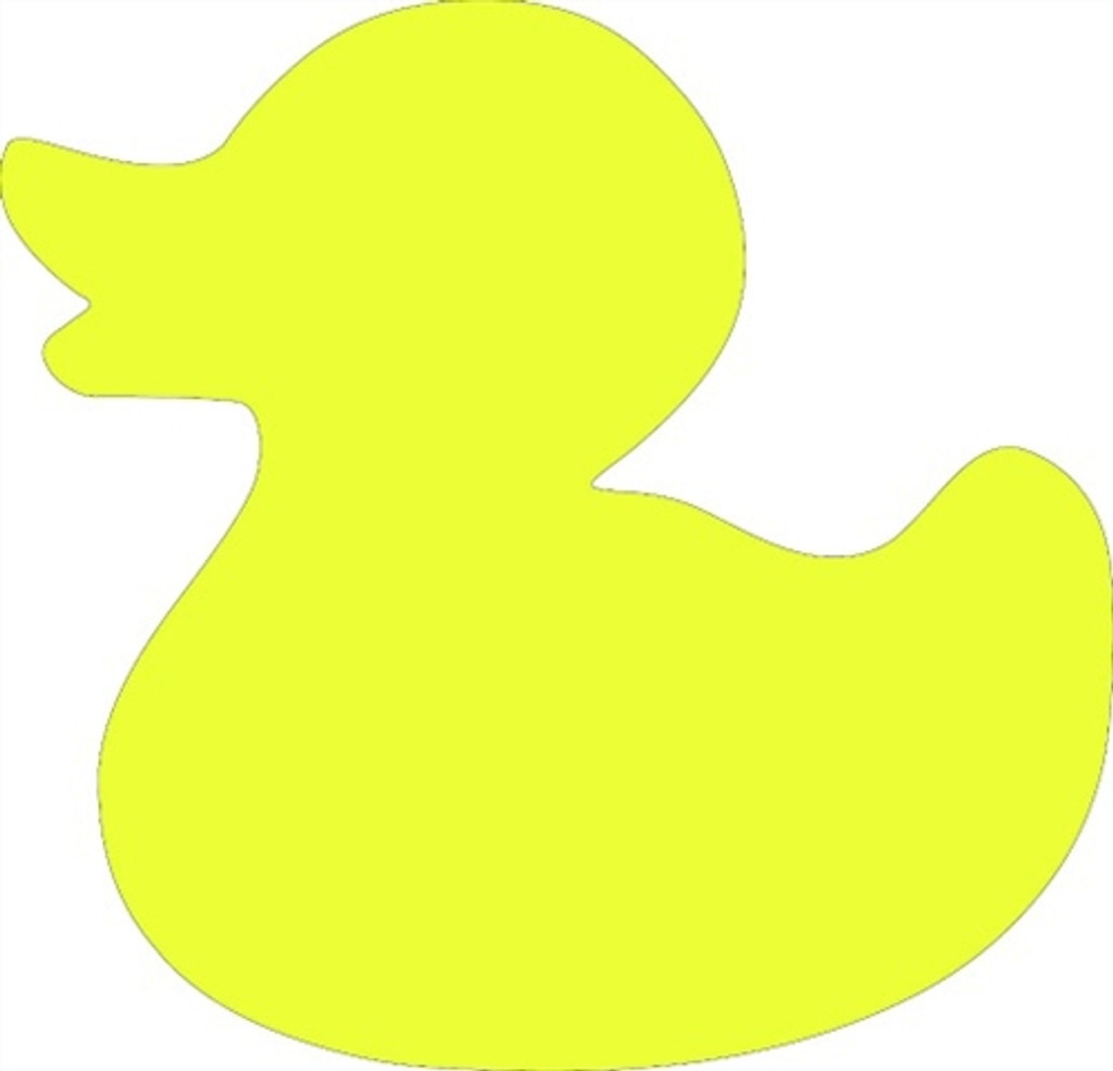 Rubber Duck Unfinished Cutout Wooden Shape Paintable Mdf