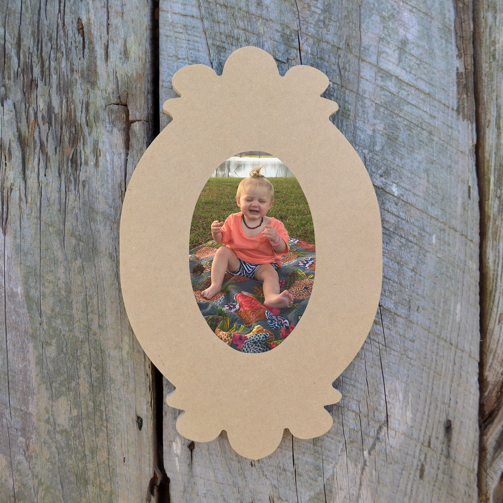 Wooden unfinished picture frame paintable wood frames diy for Unfinished wood frames for crafts