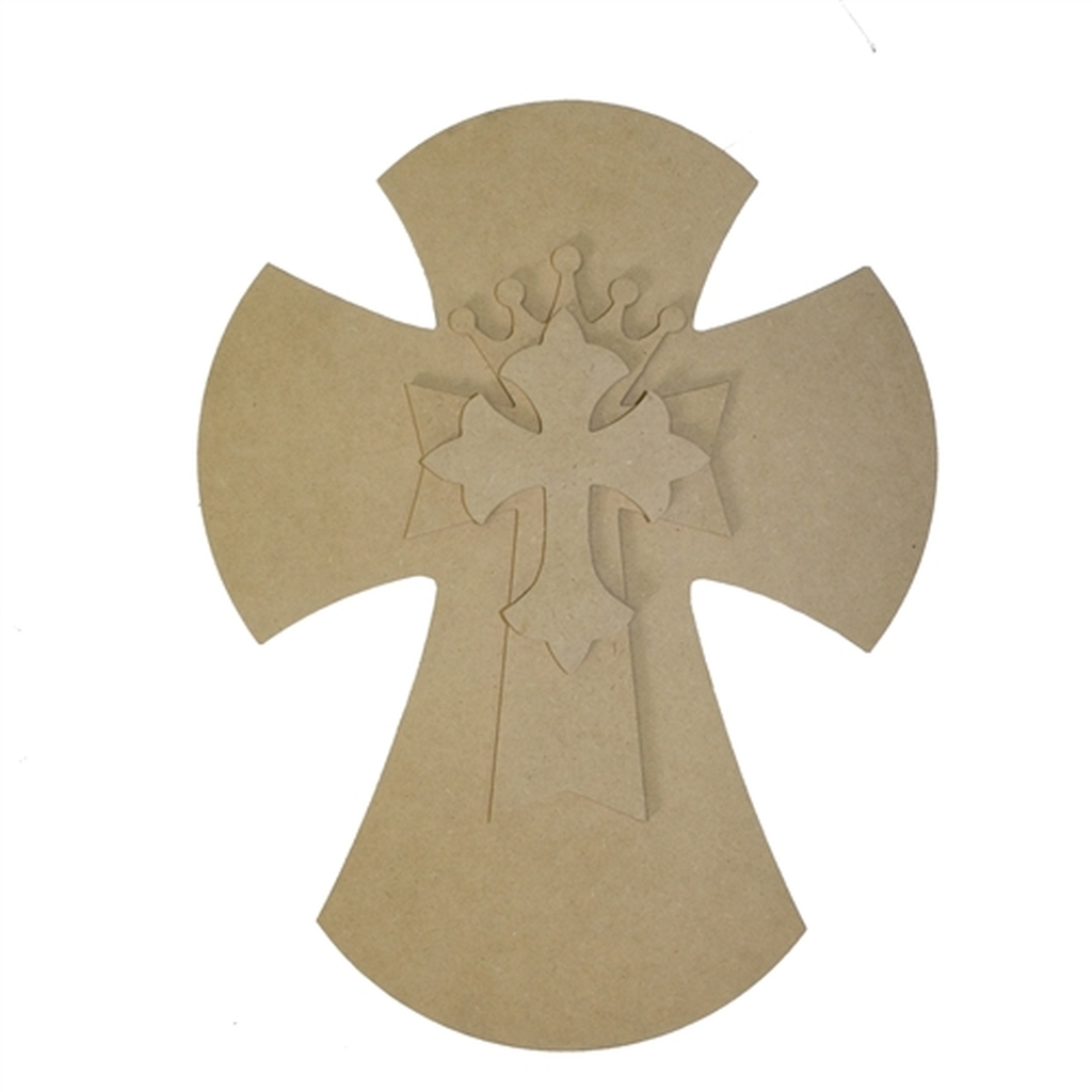 Unfinished wooden stacked layered crosses 9 5 39 39 sets for Wooden craft crosses wholesale