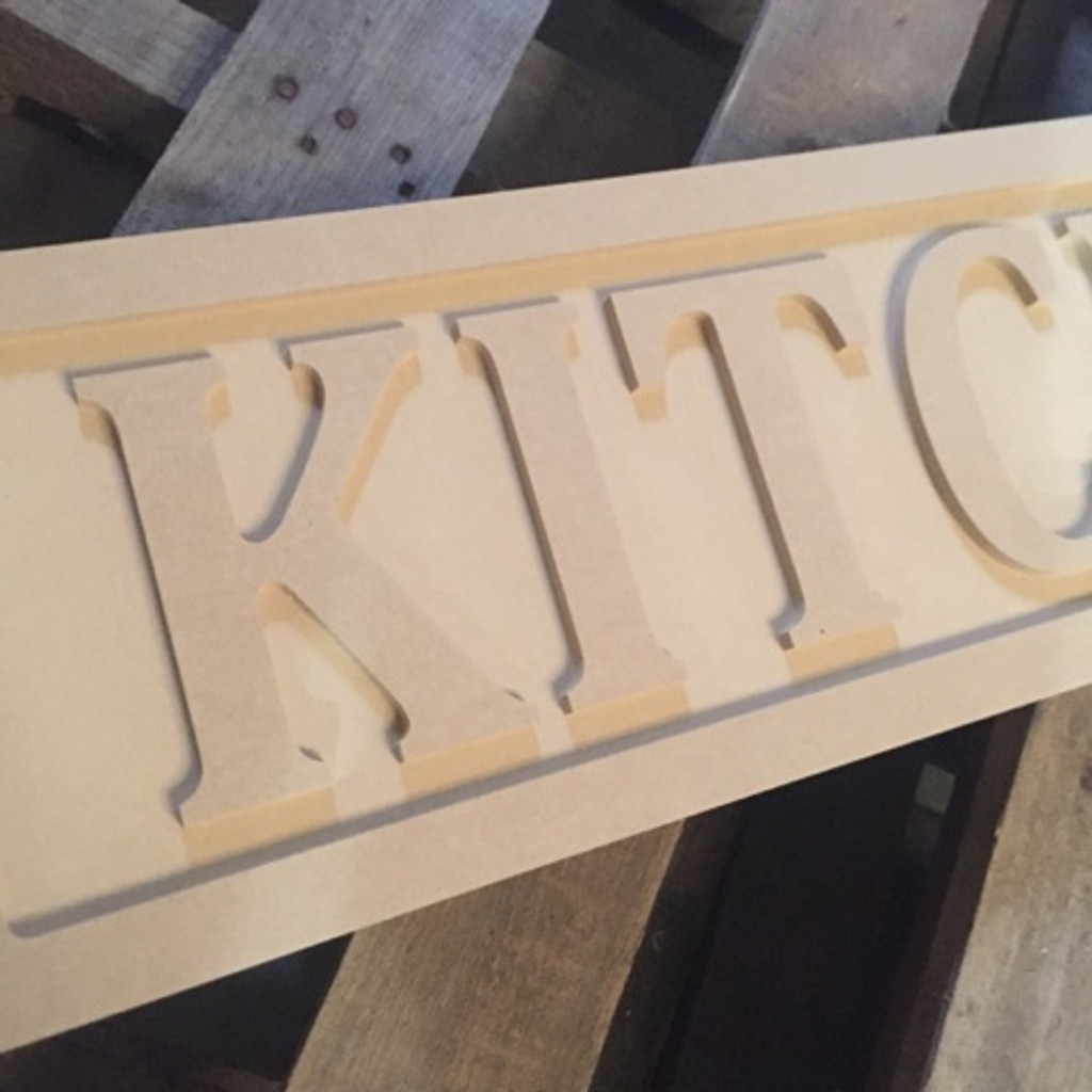 Engraved Wooden Sign 8'' x 31''Kitchen