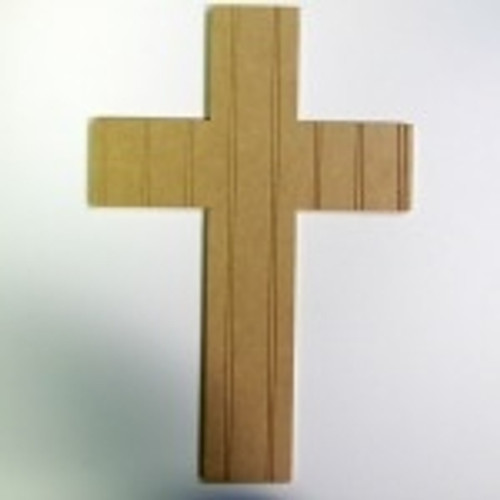 Unfinished Wooden Cross 10 Beadboard  Paintable Wall Hanging Stackable