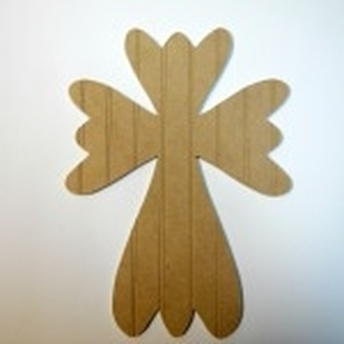 Unfinished Wooden Cross 33 B Beadboard  Paintable Wall Hanging Stackable