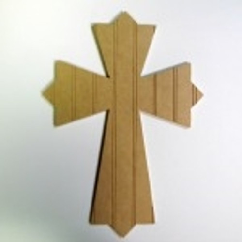 Unfinished Wooden Cross 47 Beadboard  Paintable Wall Hanging Stackable