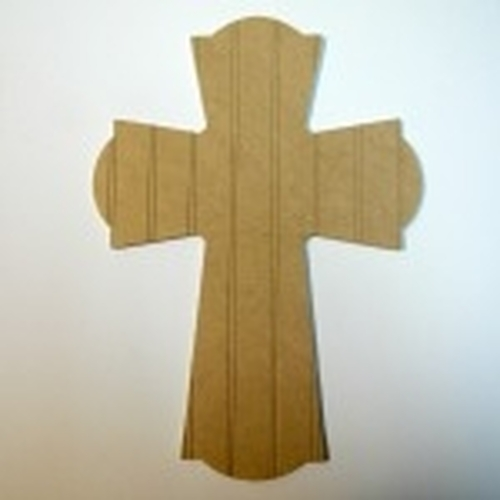 Unfinished Wooden Cross 61 Beadboard Paintable Wall Hanging Stackable