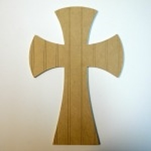 Unfinished Wooden Cross Beadboard  Paintable Wall Hanging Stackable Cross 63
