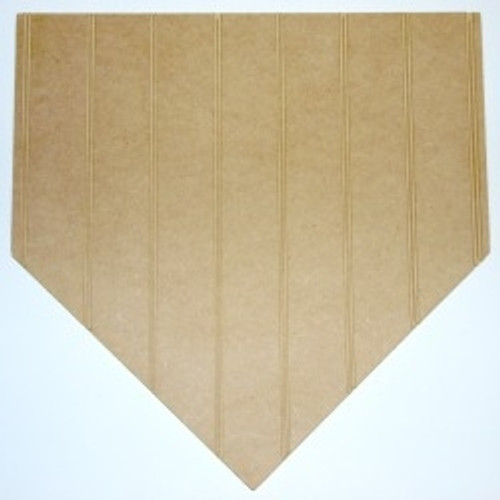 Wooden Homeplate Cutout Beadboard Shape Paintable MDF DIY Craft