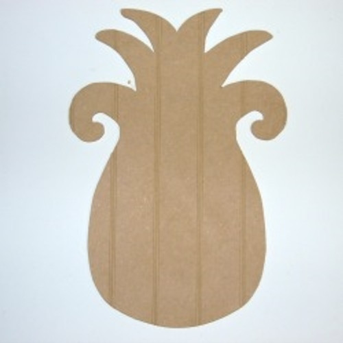 Wood Pineapple Cutout Beadboard Shape Paintable MDF DIY Craft