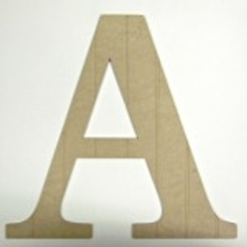Wooden Beadboard Alphabet Times New Roman Letters Wall Decor Paintable DIY