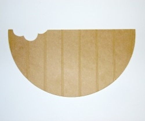 Wood Watermelon Cutout Beadboard Shape Paintable MDF DIY Craft