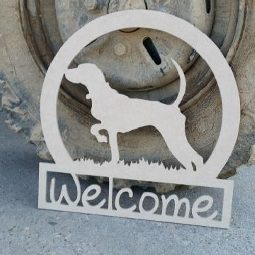 Bird Dog Sportman Welcome Sign, Beadboard Unfinished DIY Craft