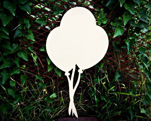 Circus Balloon 3 Unfinished Cutout, Wooden Shape,  Paintable MDF DIY Craft