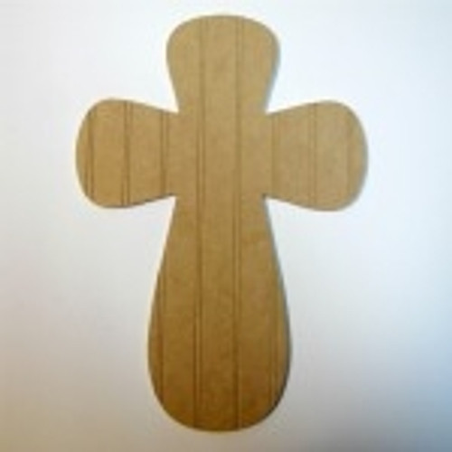 Unfinished Wooden Cross Beadboard  Paintable Wall Hanging Stackable Cross 26