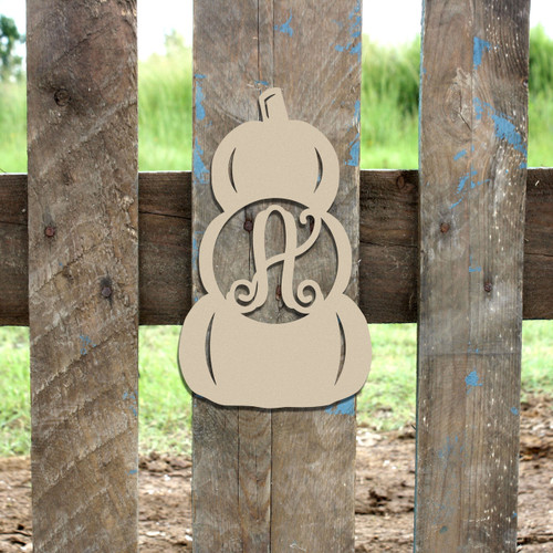 Monogram Letter,Stacked Pumpkin Frame Wooden DIY Craft