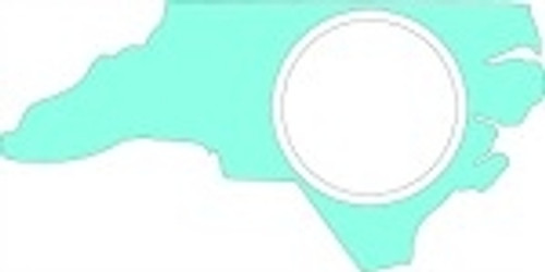 North Carolina Frame Letter Insert Wooden Monogram - Unfinished