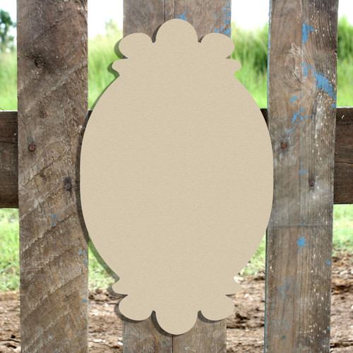 Unfinished Wooden Charlie Plaque Paintable Craft Shape