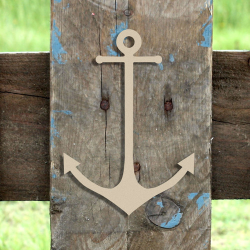 Skinny Anchor Unfinished Cutout, Wooden Shape, Paintable Wooden MDF DIY Craft