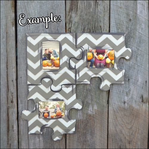 Picture Unfinished Frames Paintable Cutout Shape Puzzle Piece