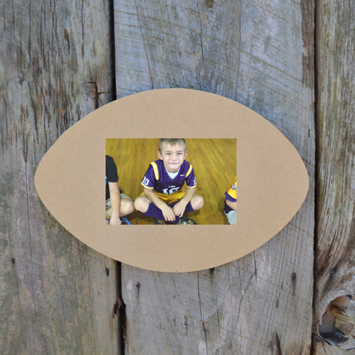Unfinished Picture Frames Paintable Cutout Shape football