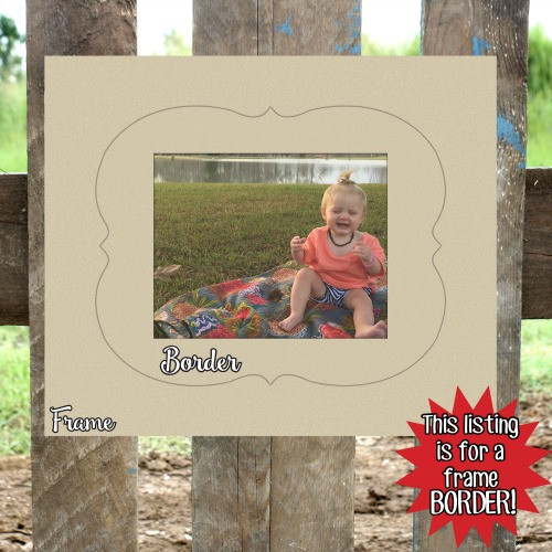 Unfinished Wooden Photo Jennifer Frame Border