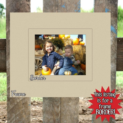 Unfinished Wooden Photo Rectangle Frame Border