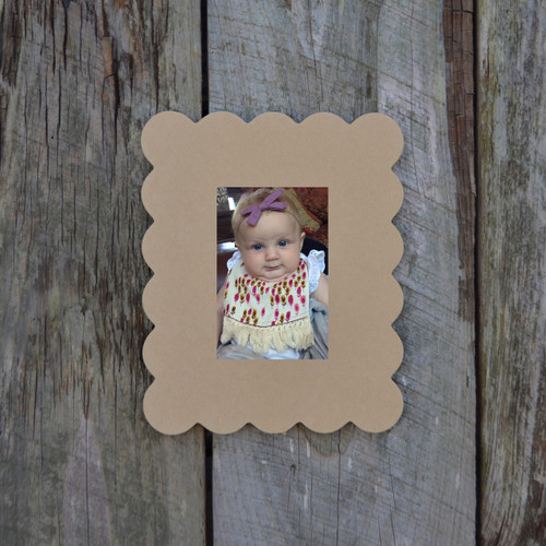 Unfinished Whimsical Picture Frame Wooden Paintable Rebecca