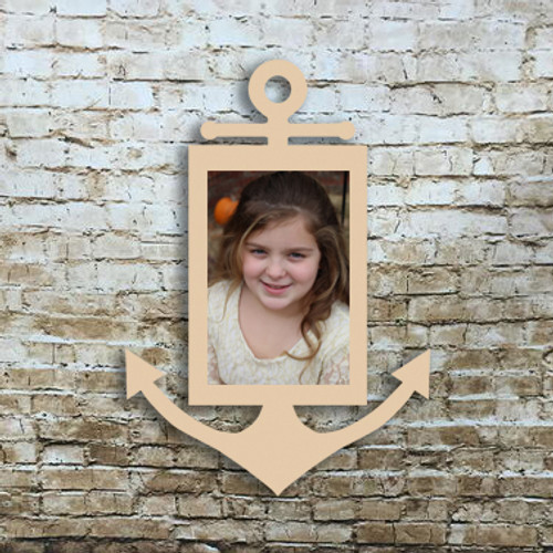 Skinny Anchor Picture Frame Unfinished DIY Wooden Frame