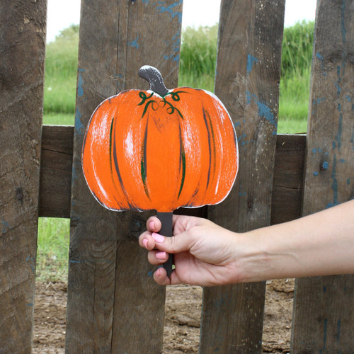 Unfinished outdoor DIY wooden yard art pattern pumpkin sign