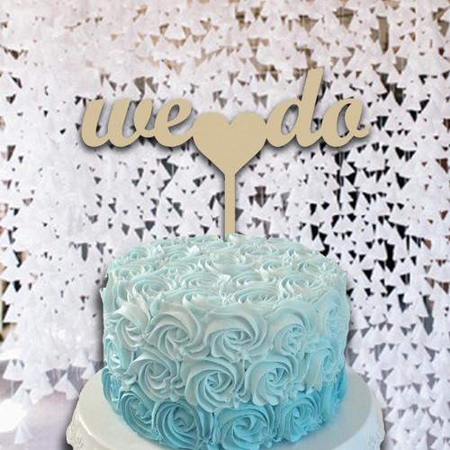 Cake Topper We Do Wooden Unfinished Uppercase Alphabet Letter, DIY Craft