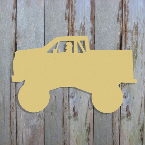 Monster Truck Unfinished Cutout, Wooden Shape, Paintable Wooden MDF