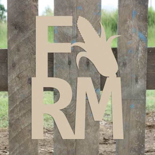 Farm Corn Sign Wall Art Wooden DIY Craft MDF