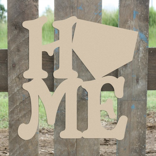 Home Baseball Homeplate Sign Wall Art Wooden DIY Craft MDF