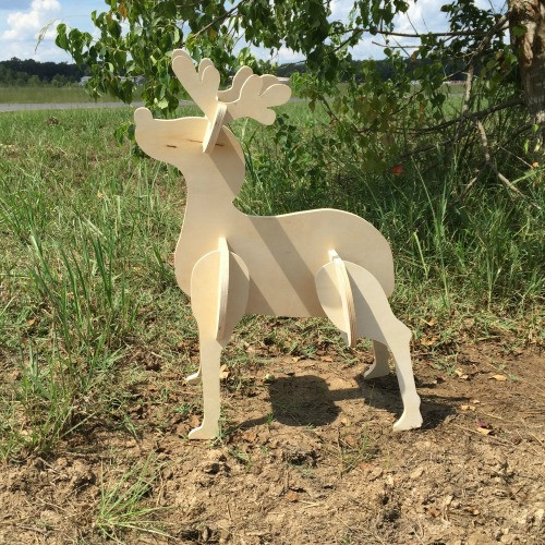 Reindeer Yard Art (Baby Rudolf) 1/2'' Birch Christmas Decor