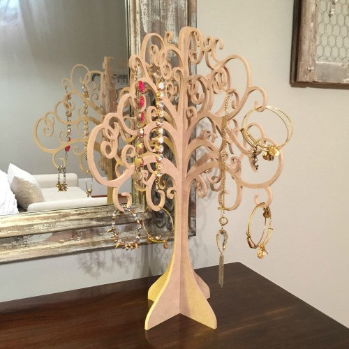 Jewelry Tree , Free Stannding , Mantle Decor Unfinished MDF