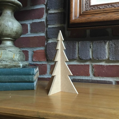 "Free Standing Table Top Christmas Tree (small, 8"") , Unfinished MDF"