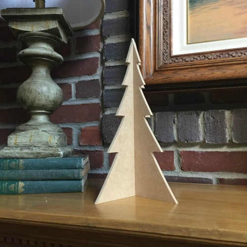 "Free Standing Table Top Christmas Tree (medium, 13"") , Unfinished MDF"
