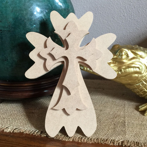 Unfinished Free Standing Cross Kit, #51