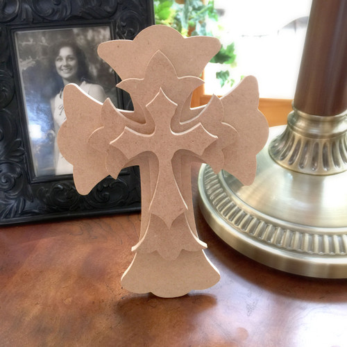 Unfinished Free Standing Cross Kit, #62