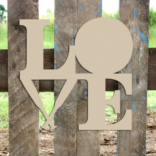 Love Baseball Bats and Ball Sign Wall Art Wooden DIY Craft MDF
