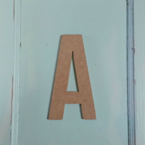 Unfinished Wooden Alphabet Letter Wall Decor Bebas Neue