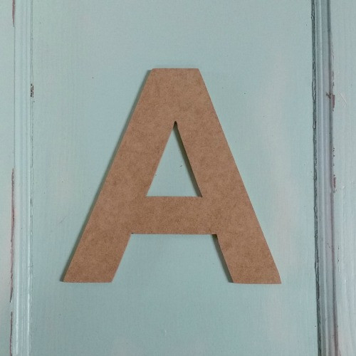 Unfinished Wooden Alphabet Letter Wall Decor Arial