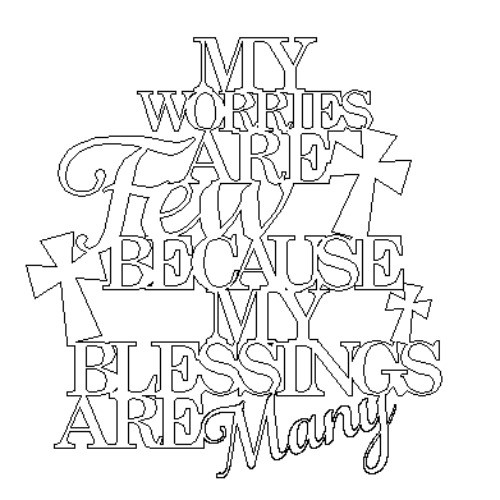 My worries are few because my blessings are many Word