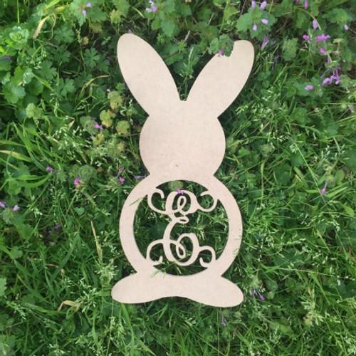 Rabbit Monogram Letter Wooden - Unfinished  DIY Craft